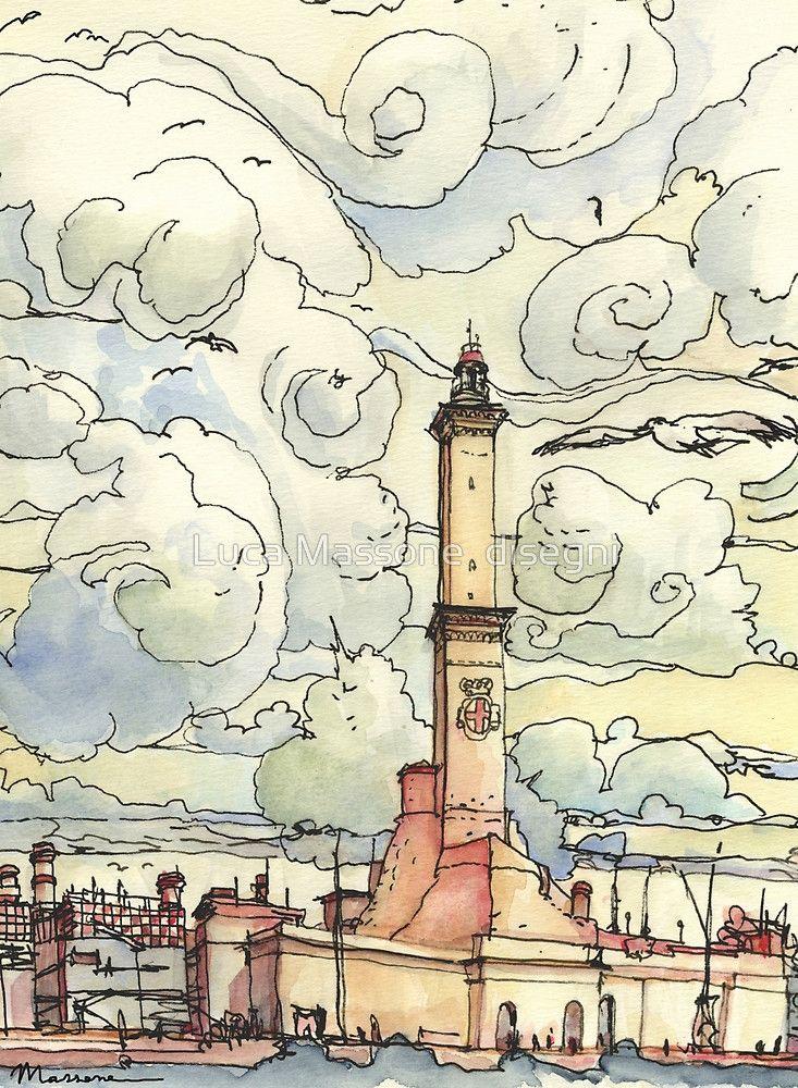 La Lanterna Of Genoa By Luca Massone Disegni Disegni