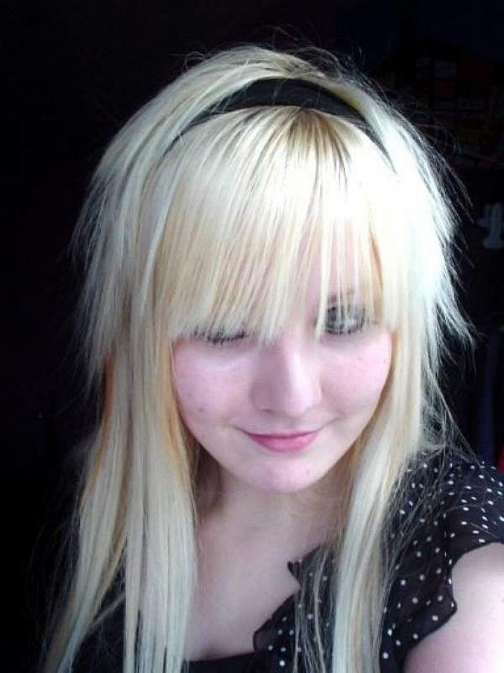 Stunning Emo Haircuts For Girls Cute Blonde Emo Haircuts For Girls