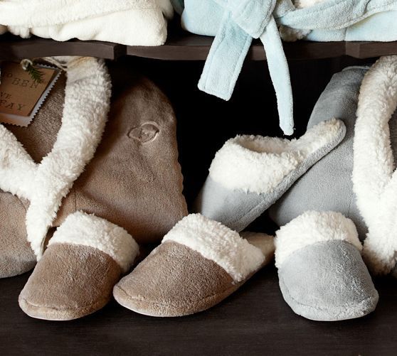 Cozy Sherpa Slippers Pottery Barn Gifts For Her Gifts