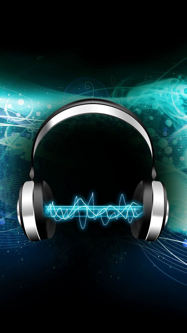 Tap And Get The Free App Music Aquamarine Blue Headphones Geometric Black Sound Abstract 3d Hd Iphone 5 Wallpaper Art Journals Journal Inspiratie