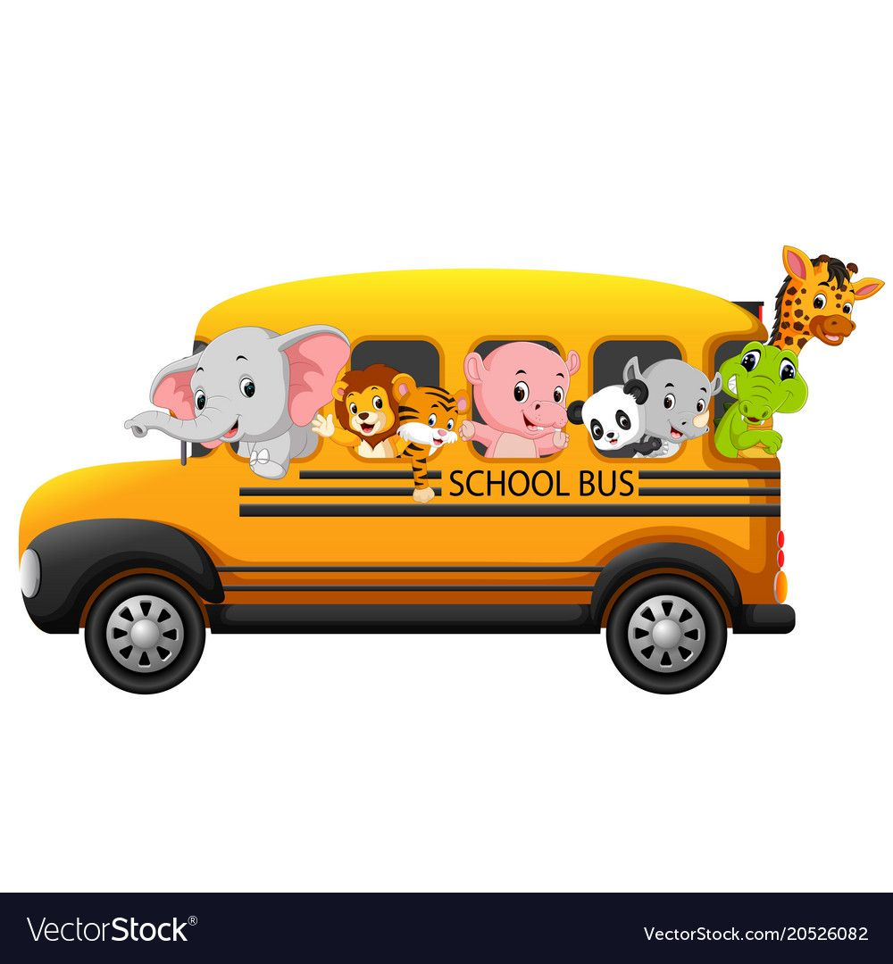 Illustration Of School Bus Filled With Animals Download A Free Preview Or High Quality Adobe Illustrator Ai Eps Pdf And H Bus Drawing Animal Clipart Animals