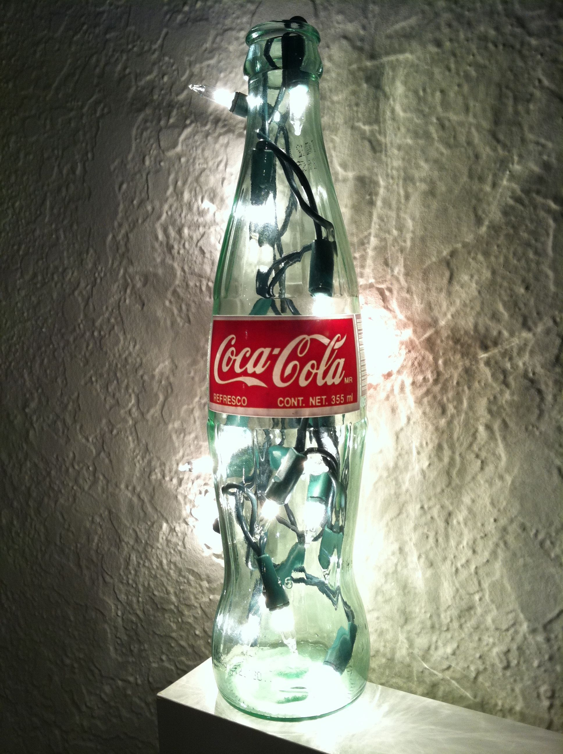 empty coke bottle short string of christmas lights diy coke bottle bedside lamp coke