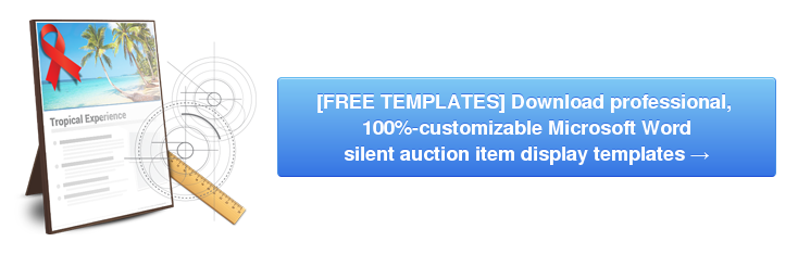 silent auction display template