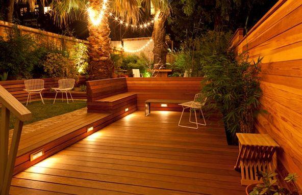 Eclairage indirect exterieur terrasse bois