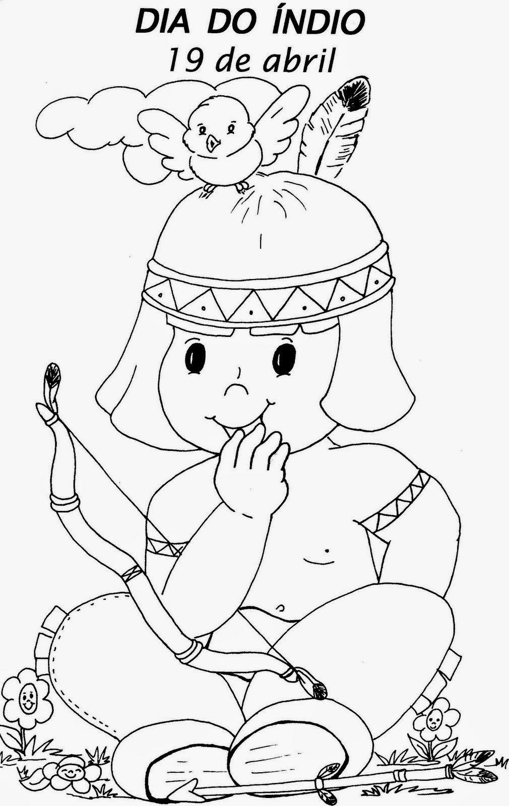 Desenhos De Indio Para Colorir Atividade Infantil Indio