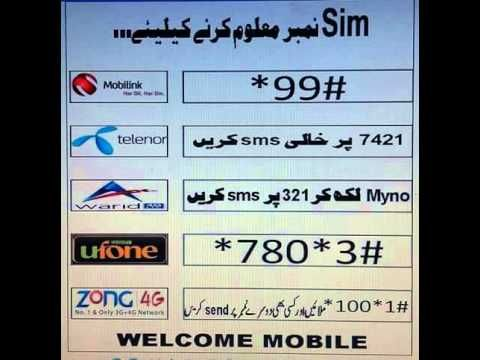 How to check Sim Number All Network Pakistan | Mian Arsil | Sims