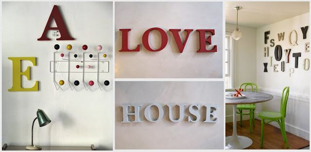 Letras corpóreas Love House