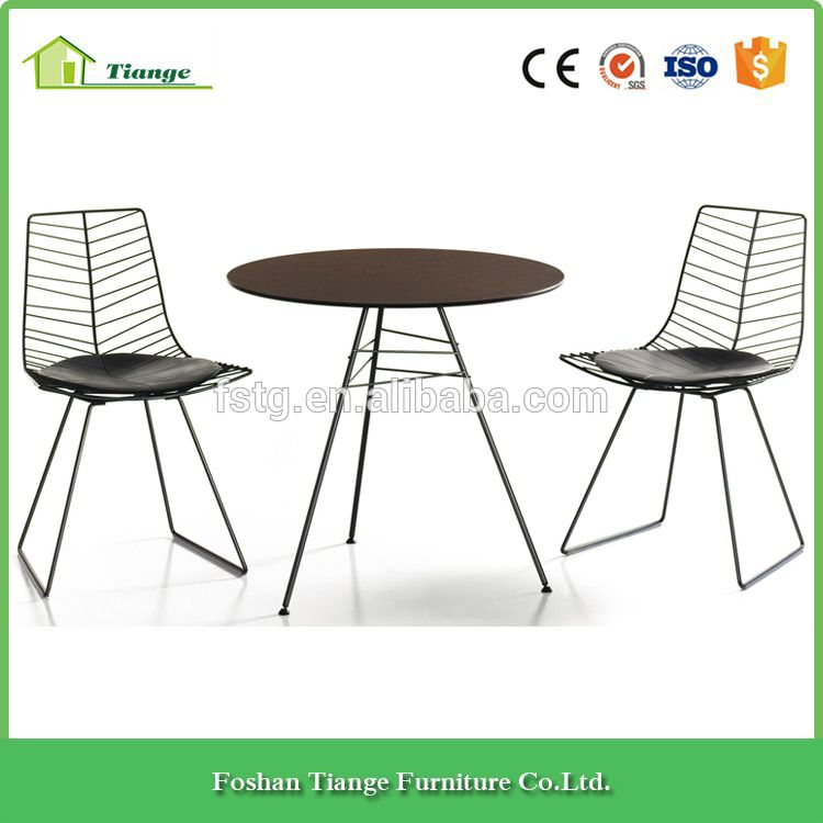 Dining Room Furniture Painted Steel Frame Replica Manel Molina Leaf Dining  Chair With Sled Base