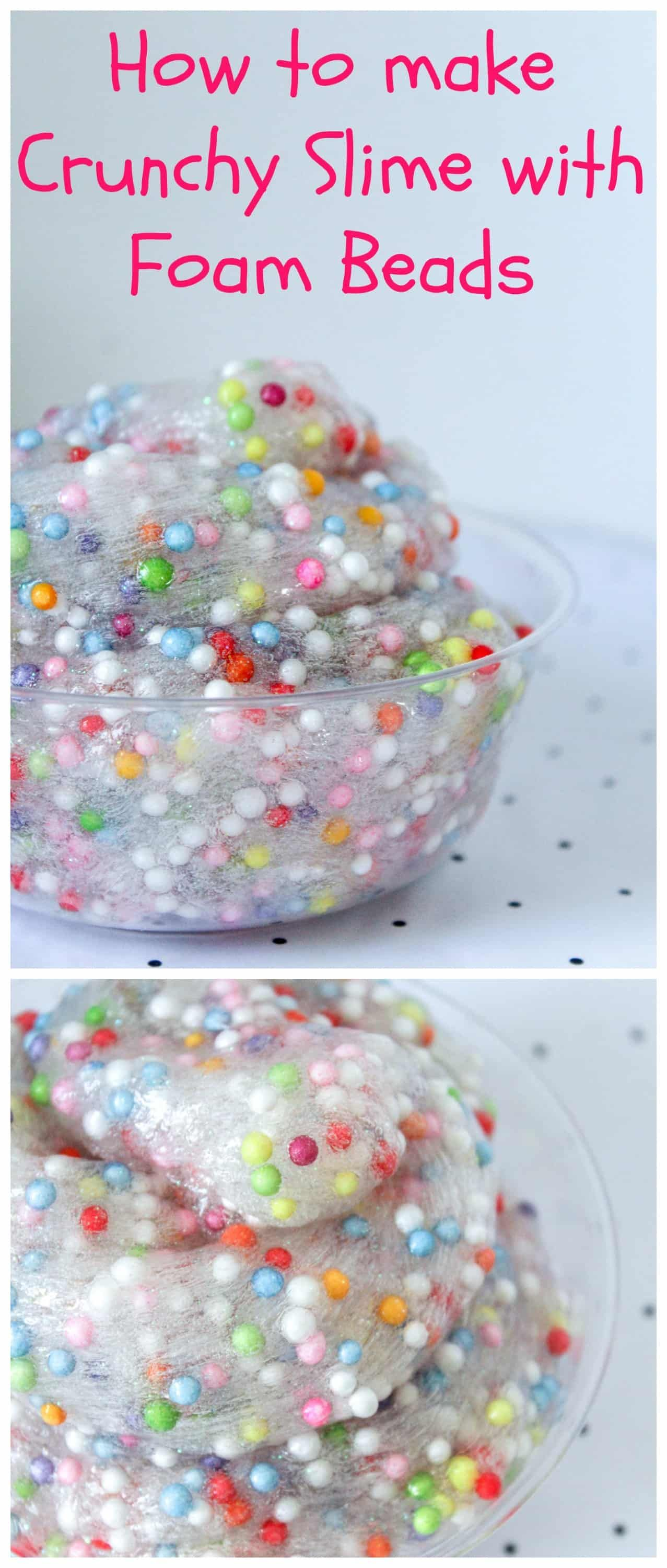How To Make Crunchy Slime With Foam Beads