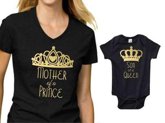 cc33100c Mom and Son Shirts, Mommy annd Son, Son of a Queen, Mother of a Prince,  Mommy and me, Mothers day gift, shirt svg, svg files