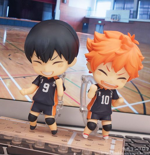 Awww So Lovely! Tobio Kageyama and Shouyou Hinata ( #Haikyuu!!)'s Nendoroid. Photo by Good Smile Company blog( http://ameblo.jp/gsc-mikatan/)