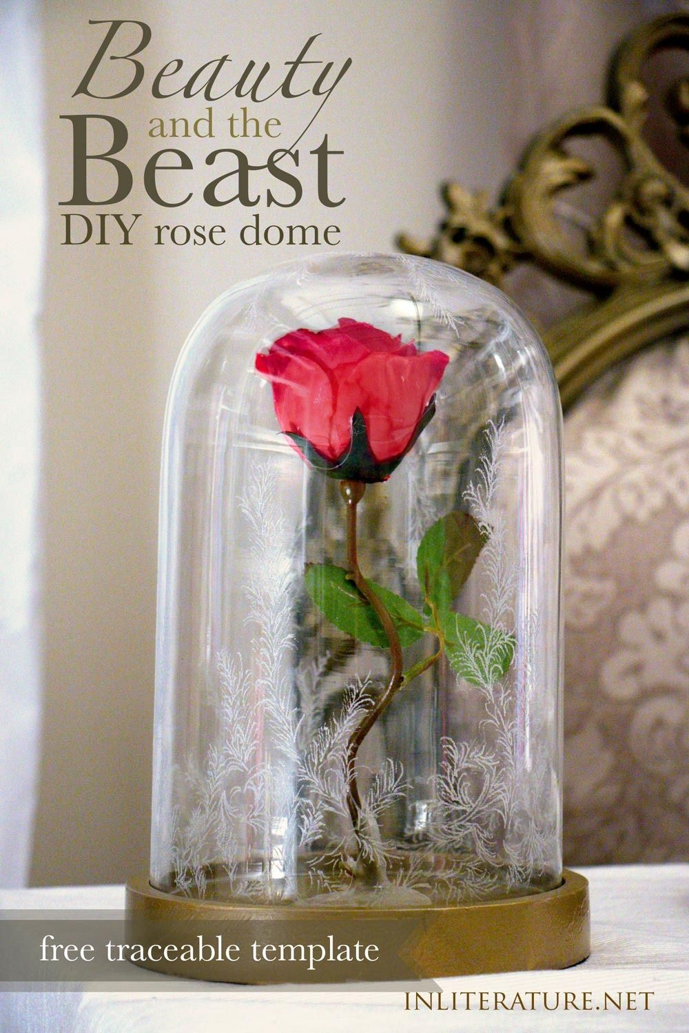 beauty and the beast rose dome tutorial diy pinterest. Black Bedroom Furniture Sets. Home Design Ideas