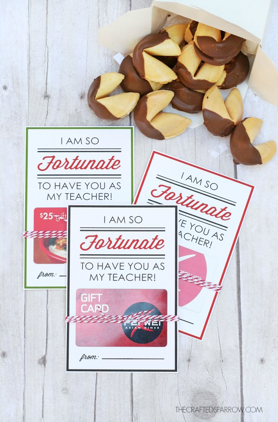 photo relating to Printable Restaurant Gift Cards known as Instructor Appreciation Printable Present Card Holders Presents for