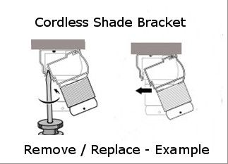 Cordless Honeycomb Shade Bracket Remove And Replacement Example