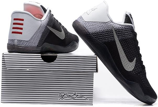 714fe1d8b04 Nike Kobe 11 Elite Grey White Black