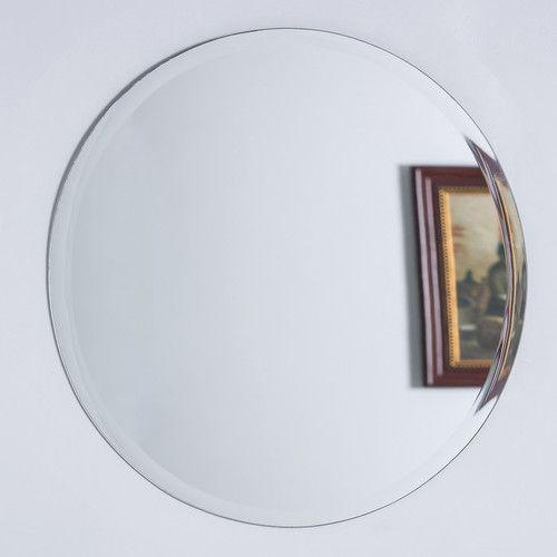 Found It At Wayfair Round Frameless Mirror Mirror Mirror Wall