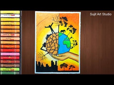 How To Draw Save Trees Save Earth Poster Chart Dra Vozeli Com