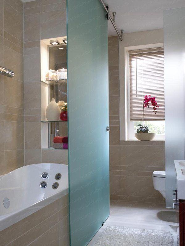 Genial! Dusche mit Schiebetür bad Pinterest Bath, Interiors - schiebetüren für badezimmer
