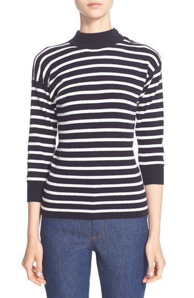 ALEXANDER MCQUEEN Stripe Knit Wool Sweater. #alexandermcqueen #cloth #