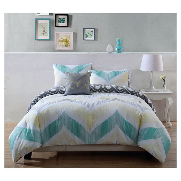 Pem America Fine Line 3 Piece Comforter Set Home Decor
