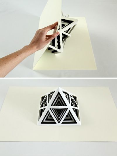 Tauba Auerbach -  [2,3]  an oversized pop-up book featuring six die-cut paper sculptures