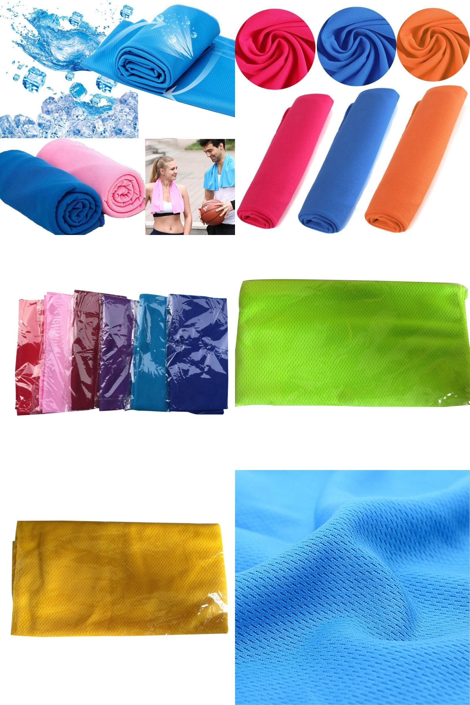 Visit To Buy 8 Colours Sports Ice Towel Instant Quick Dry Cooling Towel Heat Relief Reusable Chill Cool Towels Adverti Cooling Towels Heat Relief Cool Stuff