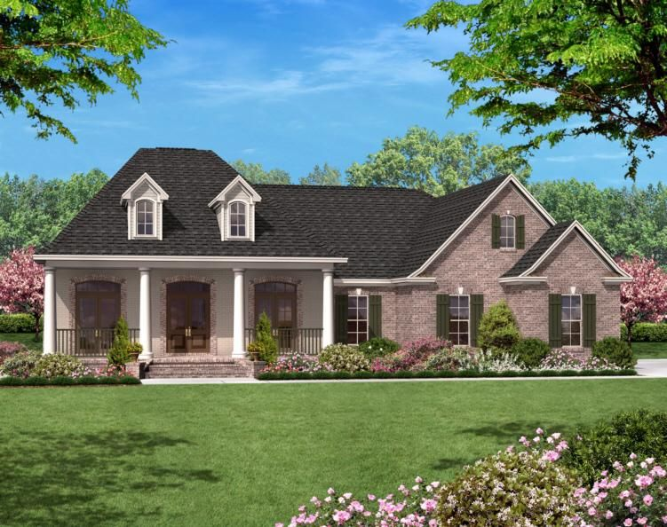 French Country Plan 1 600 Square Feet 3 Bedrooms 2