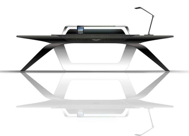 Futuristic office desk White Futuristic And Sleek Office Desk Pinterest Futuristic And Sleek Office Desk Office Furniture Desk