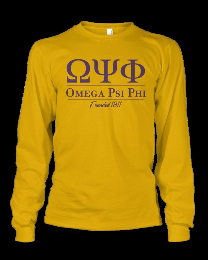 Omega Psi Phi Collegiate Long Sleeve in 2019 | A | Omega psi