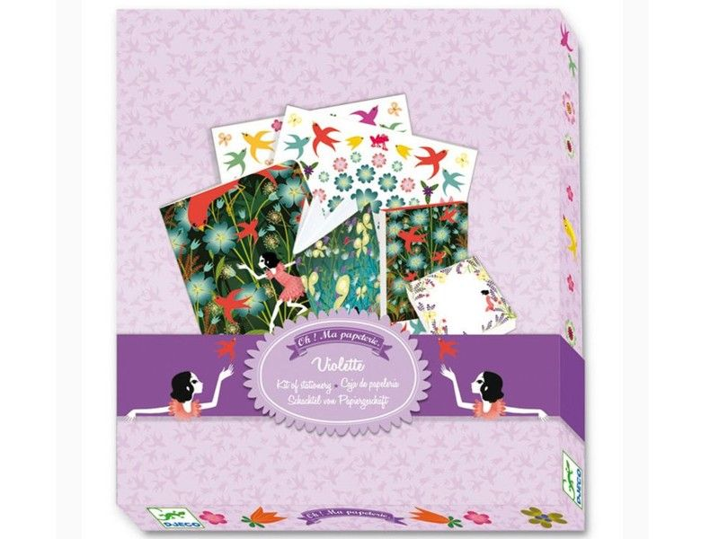 Djeco Box Set Violette Schreib Sticker Set