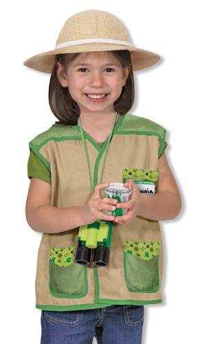 Kids Safari Explorer Costume and Hat Adventurer Ranger Fancy Dress