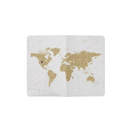 Gold foil world map custom moveable heart location pocket moleskine gold foil world map custom moveable heart location pocket moleskine notebook chic gifts diy elegant gumiabroncs Image collections