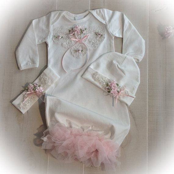 Newborn Girl Take Home Outfit, Baby Girl Coming Home Outfit, Newborn ...
