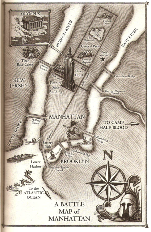 Battle Map of Manhattan from The Last Olympian! | Percy Jackson