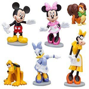 Dolls Fashion, Character, Play Dolls Disney Store Minnie Mouse Rock Star Mini Figures Gift Set Mickey Daisy Toy Dolls Handsome Appearance