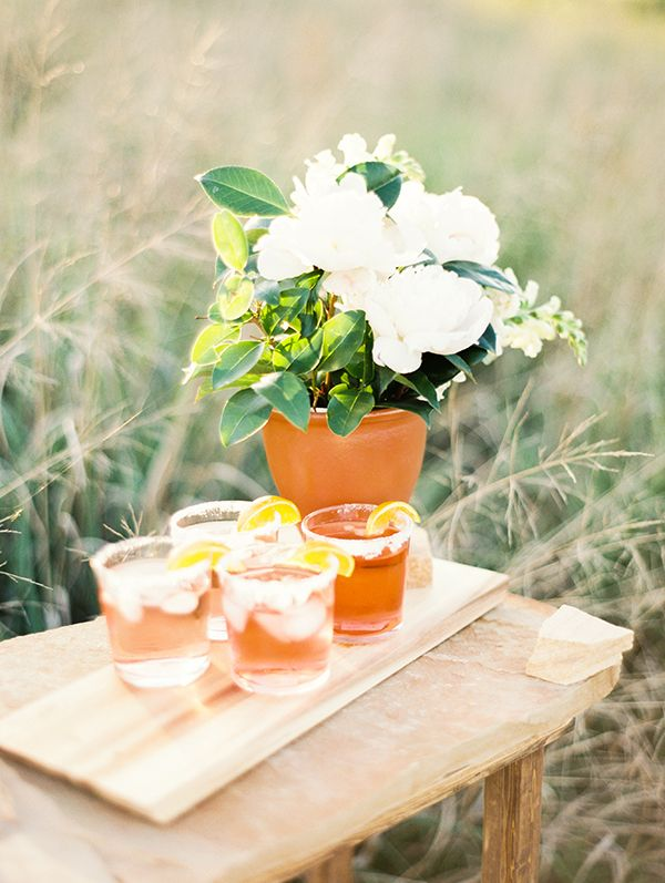 Whiskey Specialty Cocktails | Kristen Kilpatrick Photography | In the Golden Light of Summer Wedding