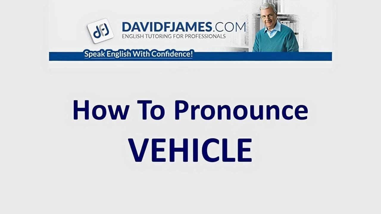 How to Pronounce VEHICLE  How to pronounce, Improve your english