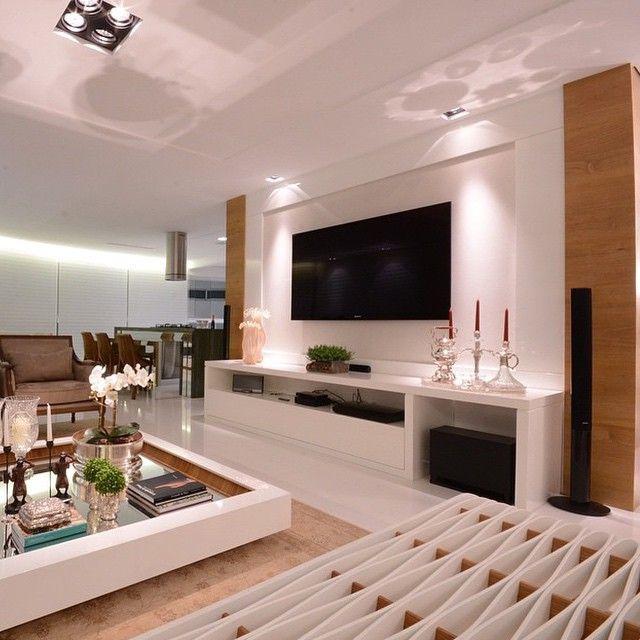 Sala De Estar Luxo ~  freijó projeto do studio santarosa sala de tv luxo casas de luxo sala