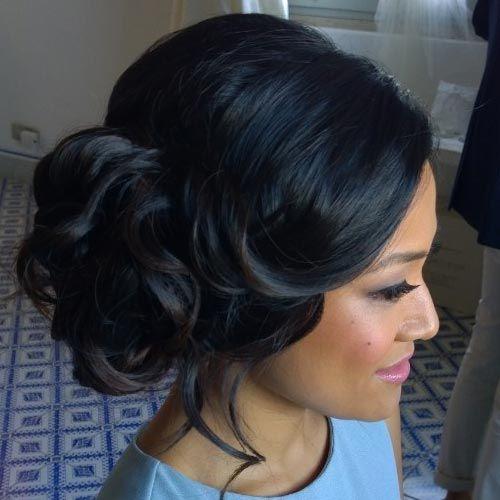 wedding hairstyle brown hair