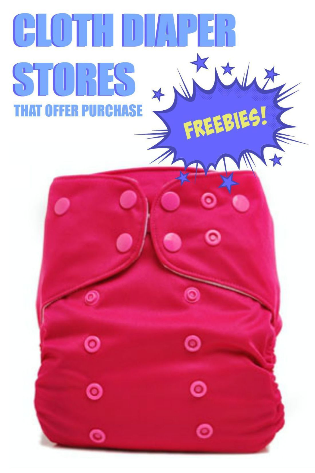 Cloth diaper store freebies - a list of stores that offer free products with a minimum purchase