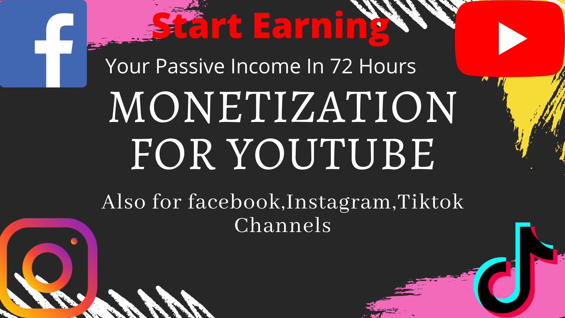 Malikwaseem131 I Will Do Promote Your Youtube Channel Monetization For 195 On Fiverr Com In 2021 Monetize You Youtube Youtube