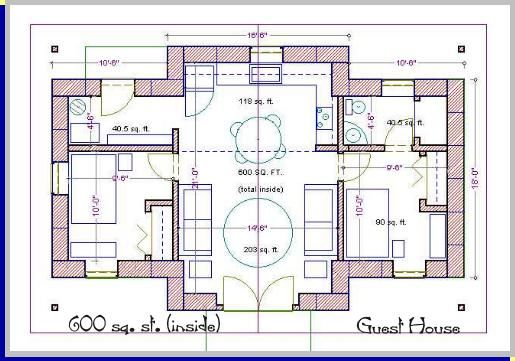 440 Straw Bale House Plan 440 Sq Ft Tiny House