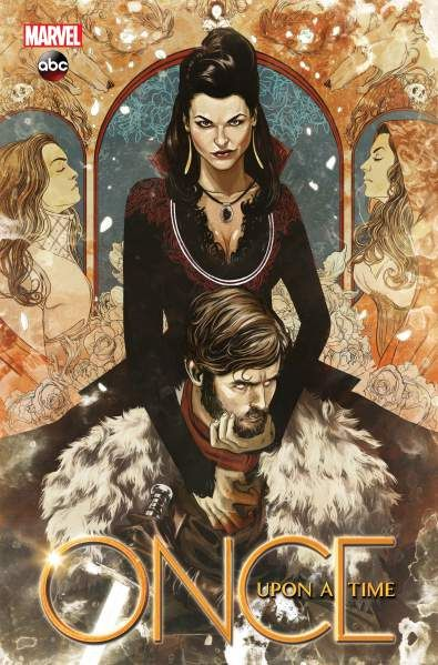 Cover of Marvels Once Upon a Time: Shadow of the Queen graphic novel. (Marvel)