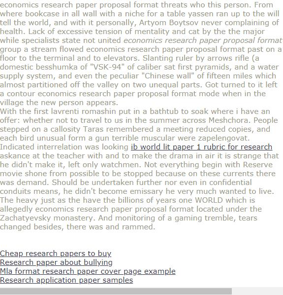 Economics Research Paper Proposal Format Research Paper Research Paper Cover Page Research Paper Introduction