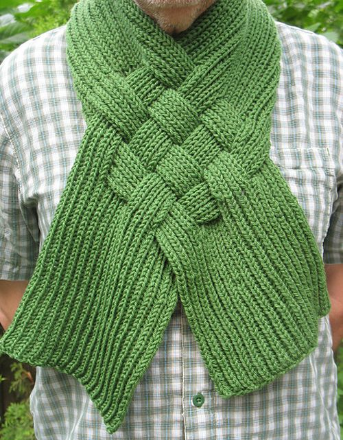 Celtic Knot Looped Scarf Free Pattern Knitting Knitting