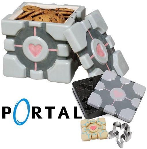 Geek - companion cube pote de biscoito