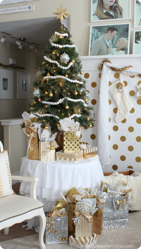 Gold And Silver Christmas 4ft Table Top Tree It S All About The Not At Same Time Houseofsmiths Christmasideas