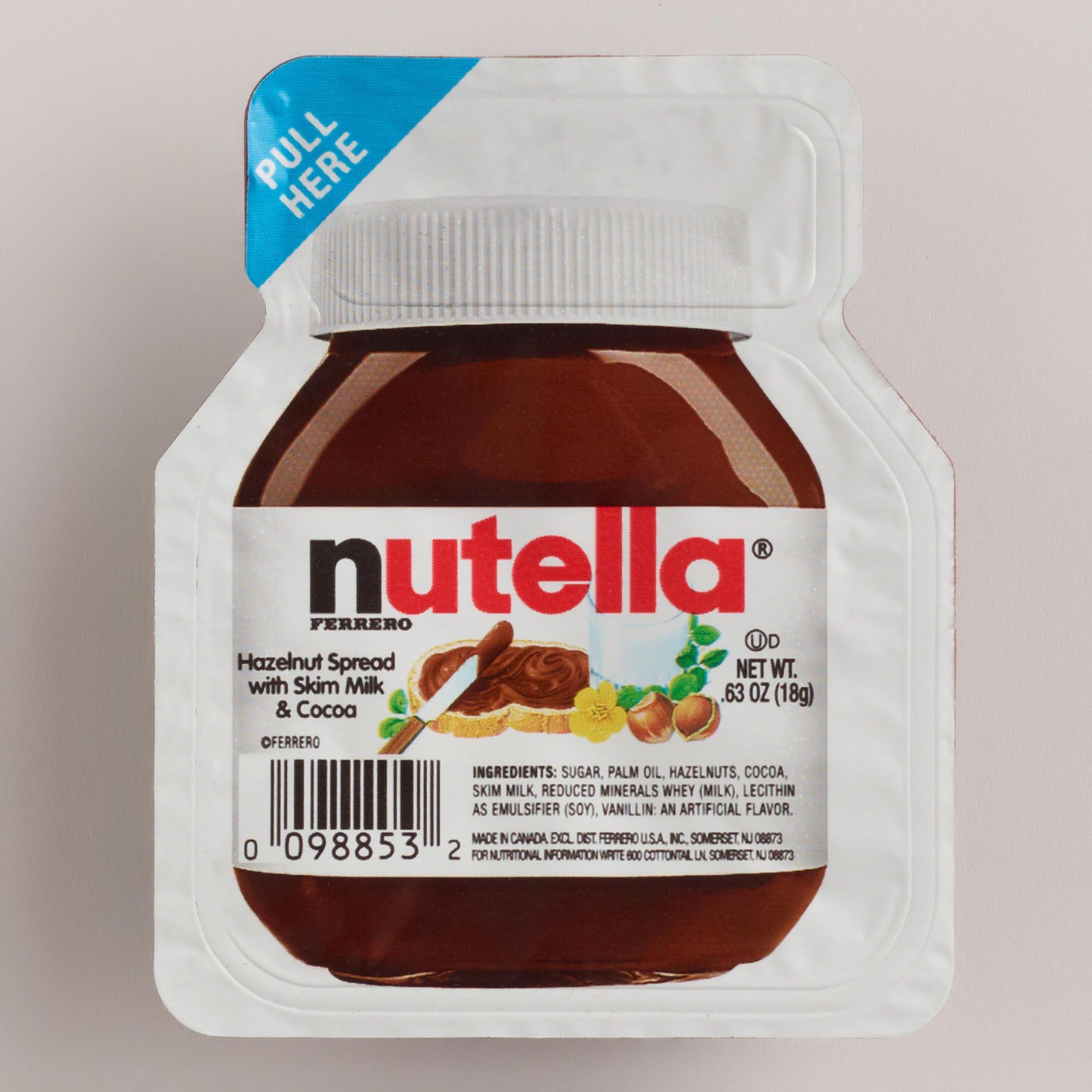 Hotel Welcome Bags: Mini Nutella Hazelnut Spread Cup (apple