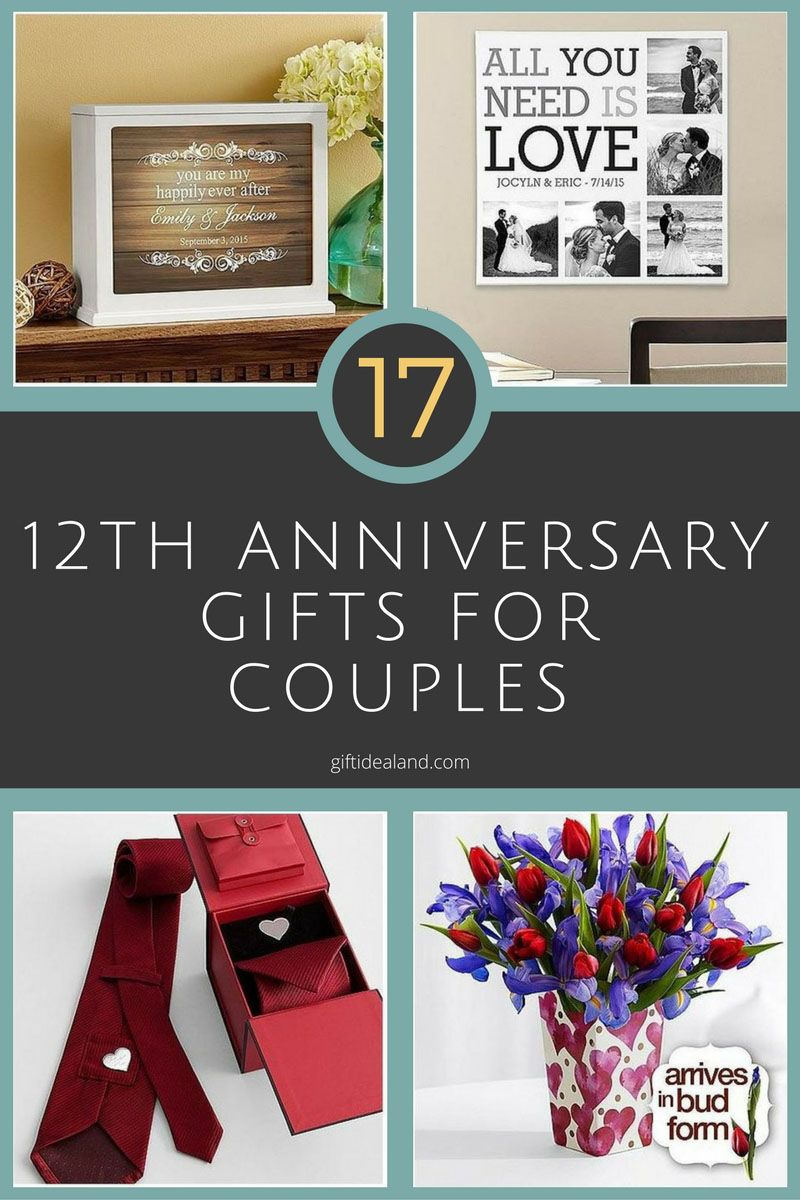 17 Great 12th Wedding Anniversary Gifts For S Husband Wife Him Her