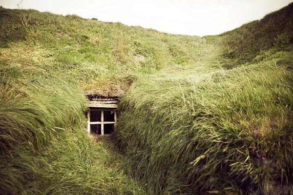 Sod House Like The One On The Banks Of Plum Creek American